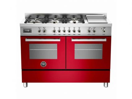 120cm Bertazzoni Professional PRO120-6G-MFE-D-ROT  in Red with 6 burners